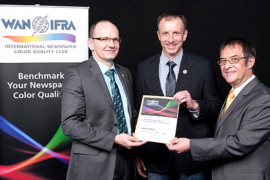 WAN IFRA Color Quality Club 2012-2014